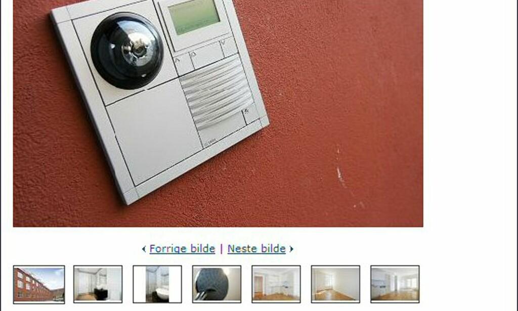 Og her er ringeklokken til Grünerløkka-leiligheten som koster 2,7 millioner kroner. Faksimile fra tinde.no.