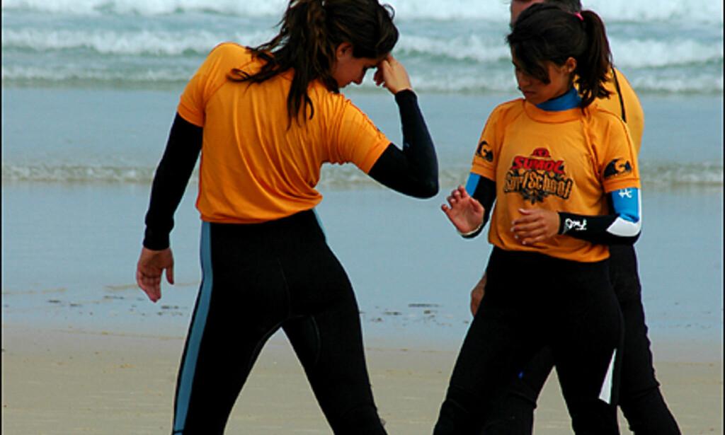 Surfing involverer også en del posering.