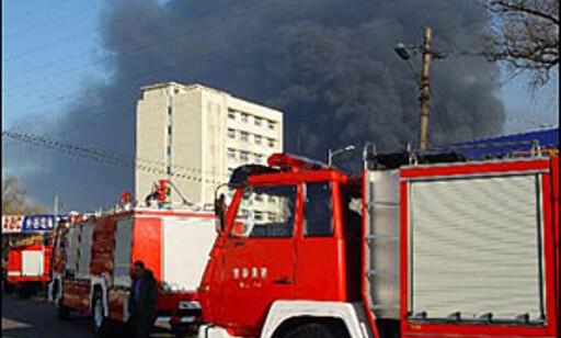 Fra den store eksplosjonen med enda større konsekvenser i Jilin. Foto: Xinhua