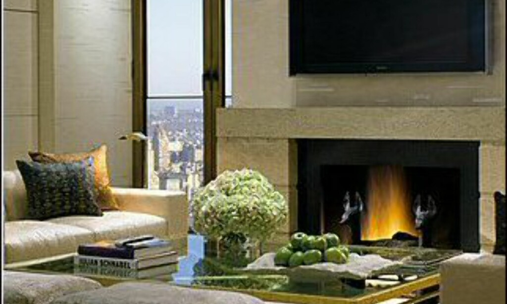 Egen peis i salongdelen. Foto: Four Seasons New York