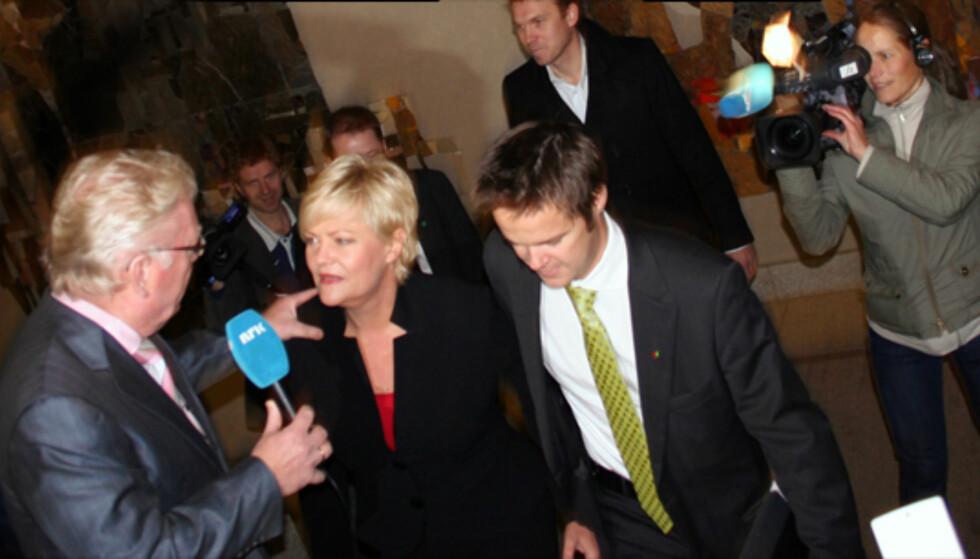 Halvorsen på vei inn til Stortinget. Foto: Kim Jansson