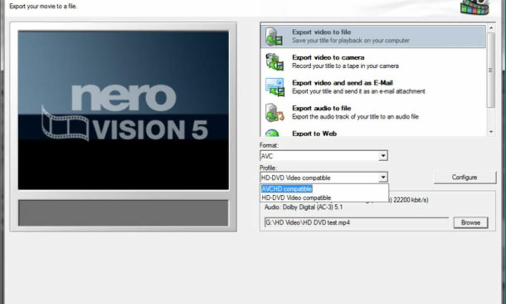 image: Nero 8 med Nero Vision