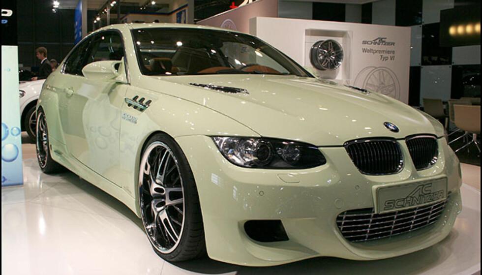 BMW 3-serie har takket være AC Schnitzer fått V10-motor og 560 hester. Drivstoff: Naturgass.