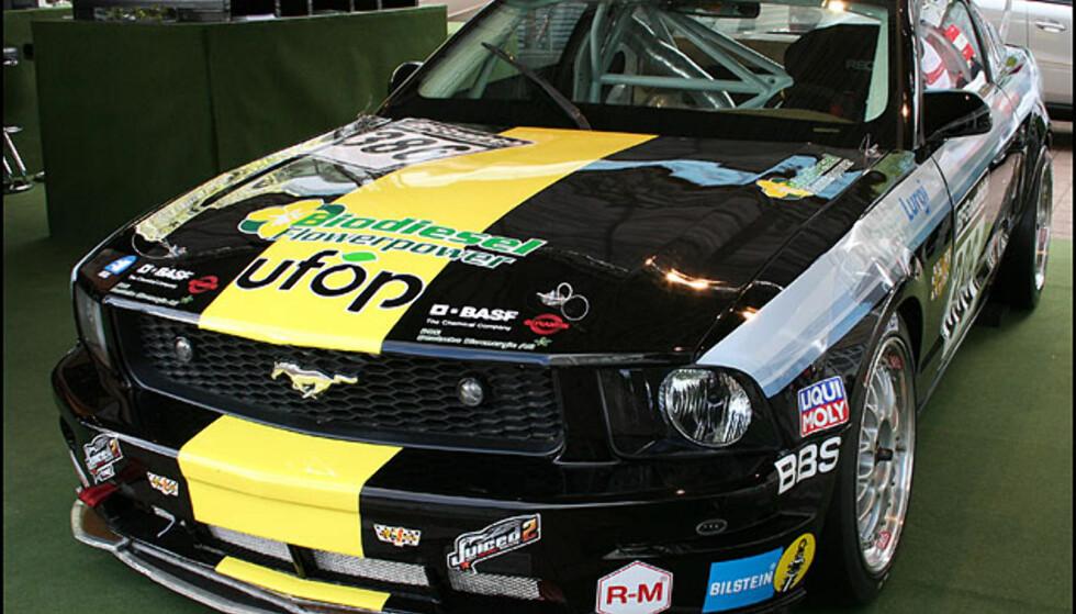 En Bio-Mustang - racer som både er bygget av og drives av fornybare materialer/drivstoff
