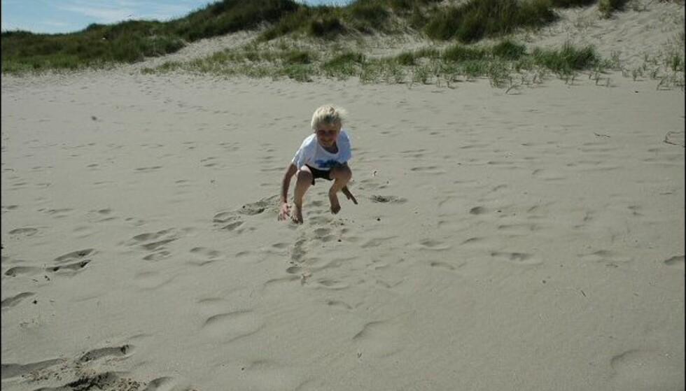 Sanden i Havik ligger ikke tilbake for Mallorca eller Gran Canaria. Foto: Tore Neset
