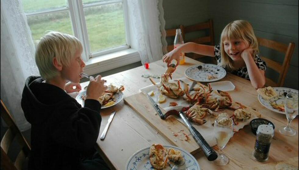 Det er fullt mulig å fiske egne krabber. Men om det kniper, kan krabbene kjøpes på selvbetjening. Foto: Tore Neset