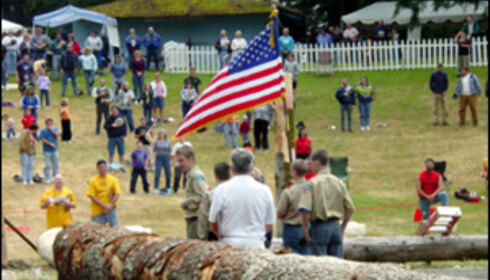 Hvert år avholdes en stor tømmerhoggerkonkurranse i Estacada, Oregon. Foto: www.americanlumberjacks.com