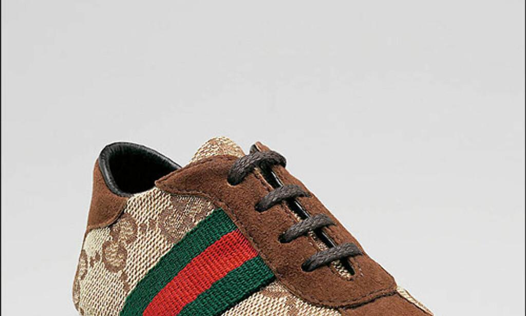 Gucci-sko i størrelse 24. Det finnes selvfølgelig matchende bære- og flaskeveske. Pris: 185 dollar, vel 1.110 kroner. Hvor: Gucci.com Foto: Gucci.com