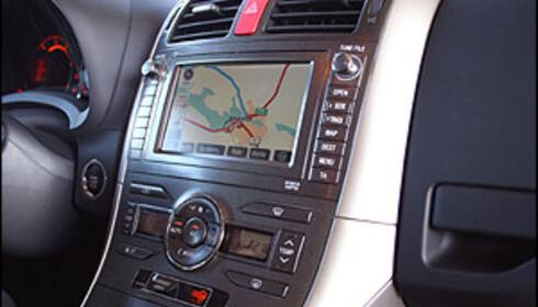 Navigasjon er ekstrautstyr og koster 21.000 kroner.