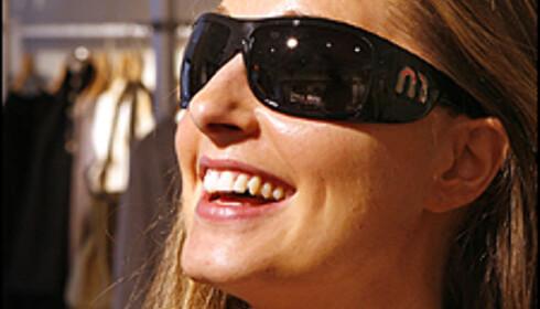 Annette Monique Bull med et par briller fra Miu Miu. Foto: Per Ervland