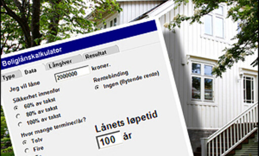 Ville du tatt opp lån med 100 års løpetid? Bildeillustrasjon: Per Ervland.