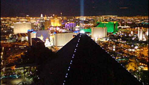 Utsikten fra Mix-baren på THEhotel. Den beste utsikten i Las Vegas som er gratis.