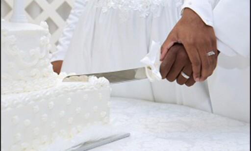 Kaken koster mer dersom du kaller den bryllupskake. DinSide har vært i flere bryllup der gjester har jublet over å ha fått servert brownies i stedet for. Det er både billigere - og bedre. Foto: Jonathan Kendrick