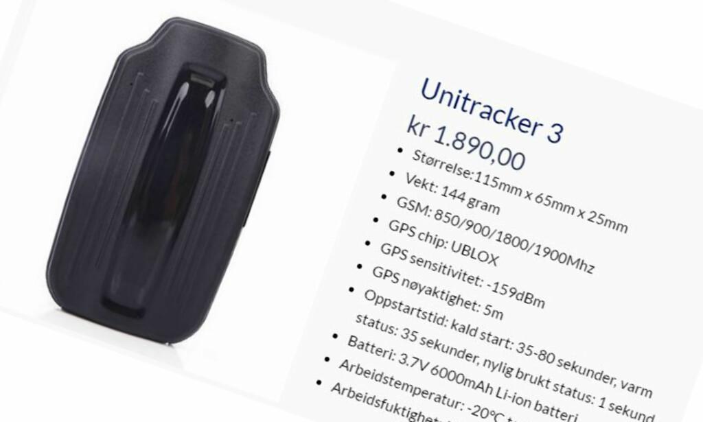 MISTENKELIG LIK: Unitracker 3 selges i Norge for over 1.200 kroner mer enn vårt testobjekt fra Kina.