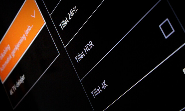 NYHETER: 4K og HDR støttes for video, om du har en ny TV. Foto: Ole Petter Baugerød Stokke