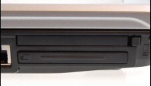 Et eksempel på en bærbar med både CardBus- og ExpressCard-slot. Det er ikke umiddelbart lett å se forskjellen.