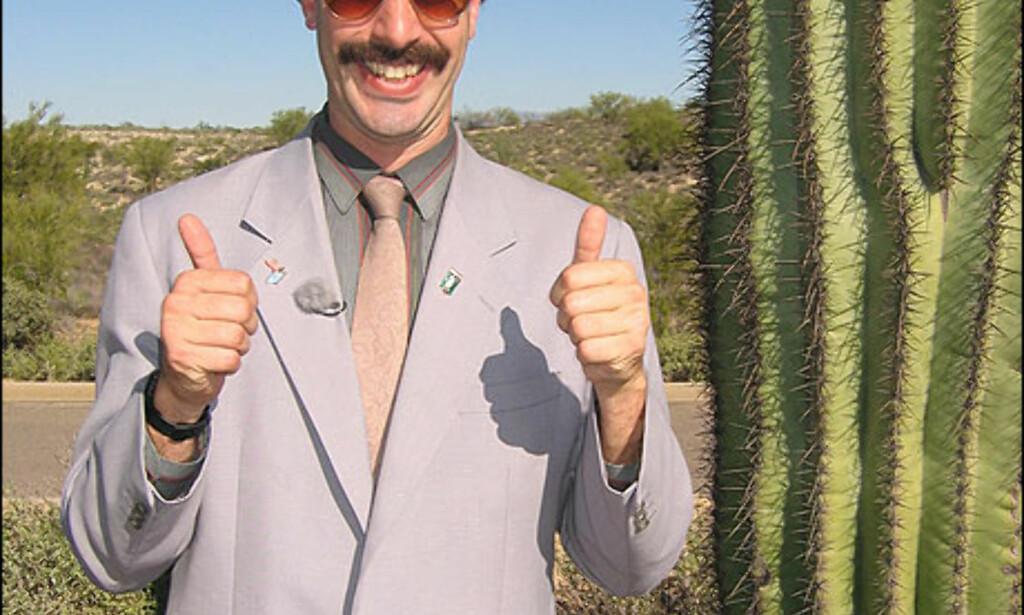 Reporterens nye amerikanske venn, en kaktus. Foto: 20th Century Fox