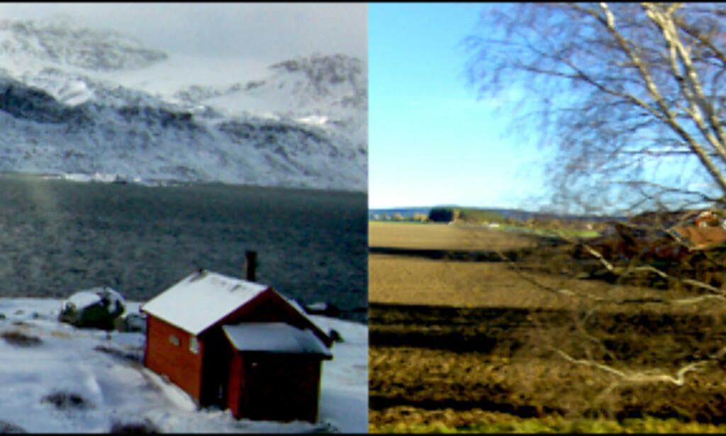 Tar du toget gjennom Norge kan du oppleve kontrastene landet har å by på. Disse bildene er tatt gjennom togvinduet på strekningen Bergen-Drammen. Foto: Kim Jansson