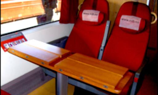 Dette er setene i Komfortavdelingen.