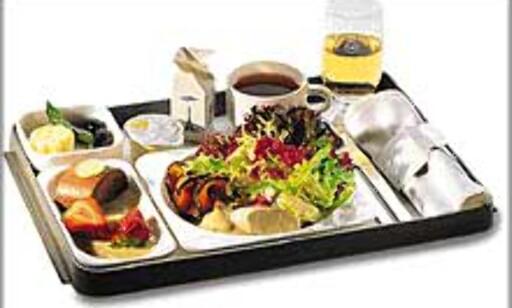 Lav luftfuktighet og lavt lufttrykk gjør at denne maten ikke smaker like mye i lufta som på land.