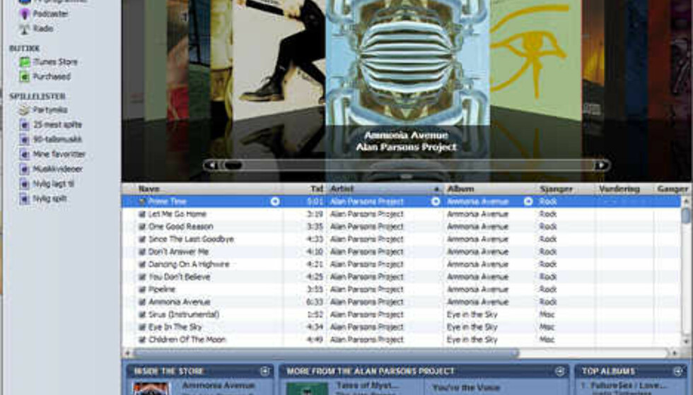 Grensesnittet mot musikksamlingen din i iTunes 7.