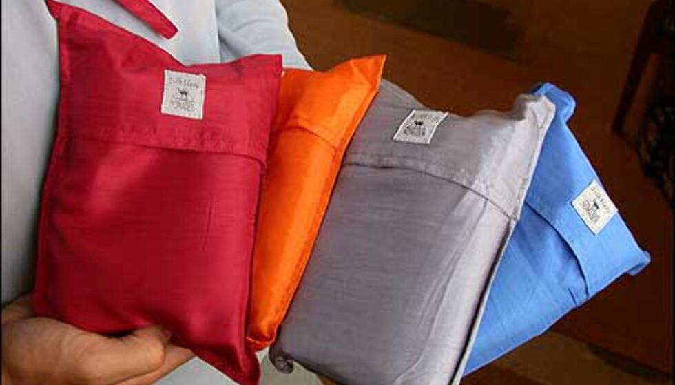 Silkelakenposer er glimrende på svette backpackers.
