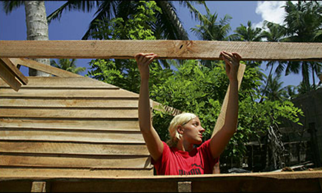 SRI LANKA: Anna Kalthof bygde hus for tsunamiofrene på Sri Lanka gjennom organisasjonen Project Galle i fjor.  Foto: Paula Bronstein/Getty Images/All Over Press Foto: Paula Bronstein/Getty Images/All Over Press