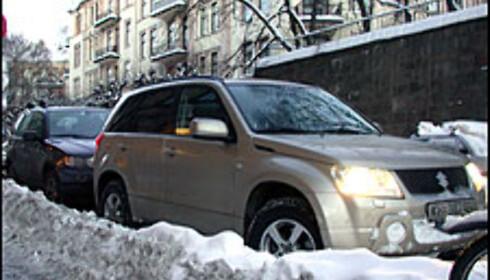 SUV i byen.