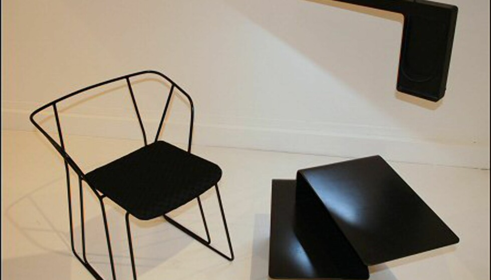 Den norske, fremadstormende duoen StokkeAustad står bak disse møblene. Bordet heter Carbon Fibre Lounge Table. www.stokkeaustad.com. Foto: Camilla Ursin. Foto: camilla ursin