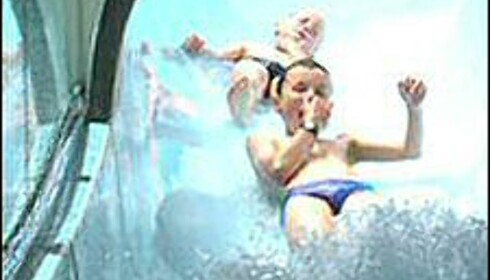 Moro for barn i vannskliene. Foto: AquaCity