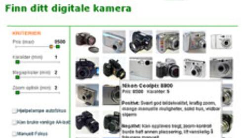 Vår nye kameravelger gjør det langt enklere å finne kameraet som passer deg!