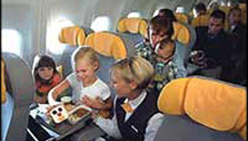De fleste flyselskap gir barna ekstra god service.