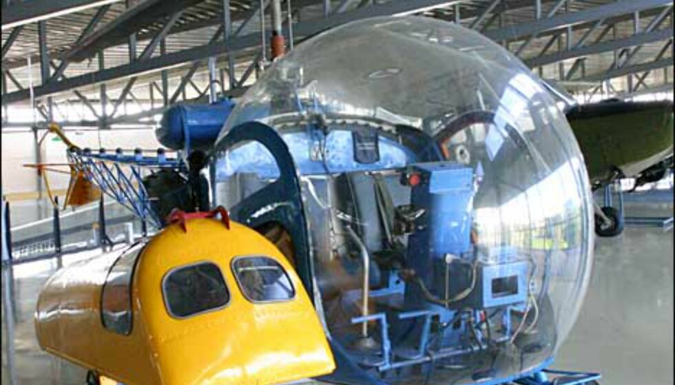 Bell 47D-1. Lett redningshelikopter. De første kom til Norge på 50-tallet.