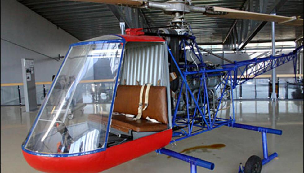 Norskutviklet helikopter, av typen Kjeller PK X-1. Egentlig er det en prøvemodell, utviklet av Paul Kjølseth.