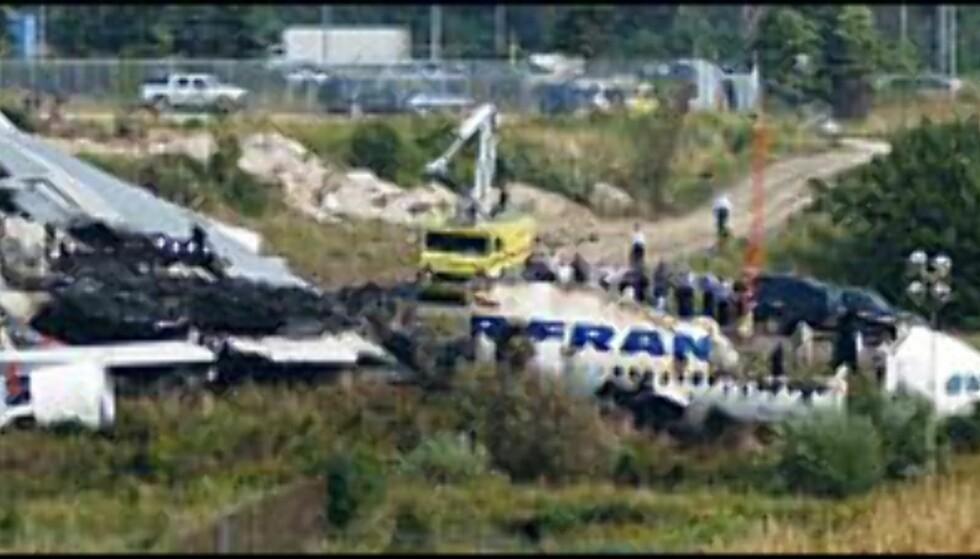 Alle 309 om bord reddet livet da Air France flyet brant opp i Toronto. Foto: John Normile/Getty Images Foto: John Normile/Getty Images