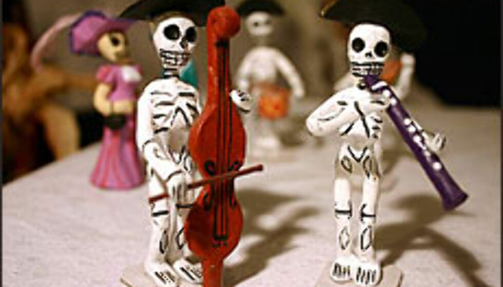 Día de los muertos-figurer.  Foto: Christine Baglo Foto: Christine Baglo, IKKE TIL GJENBRUK