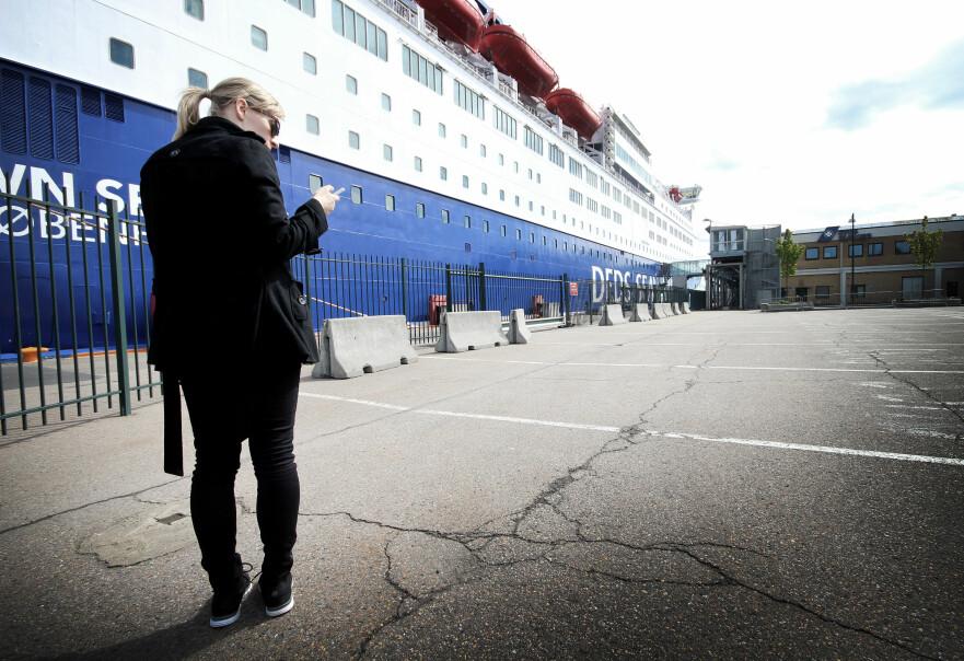 IKKE FRI ROAMING: Skru av roamingen før du går på danskebåten og andre ferger. For å roame til sjøs kan bli rådyrt. Foto: Ole Petter Baugerød Stokke
