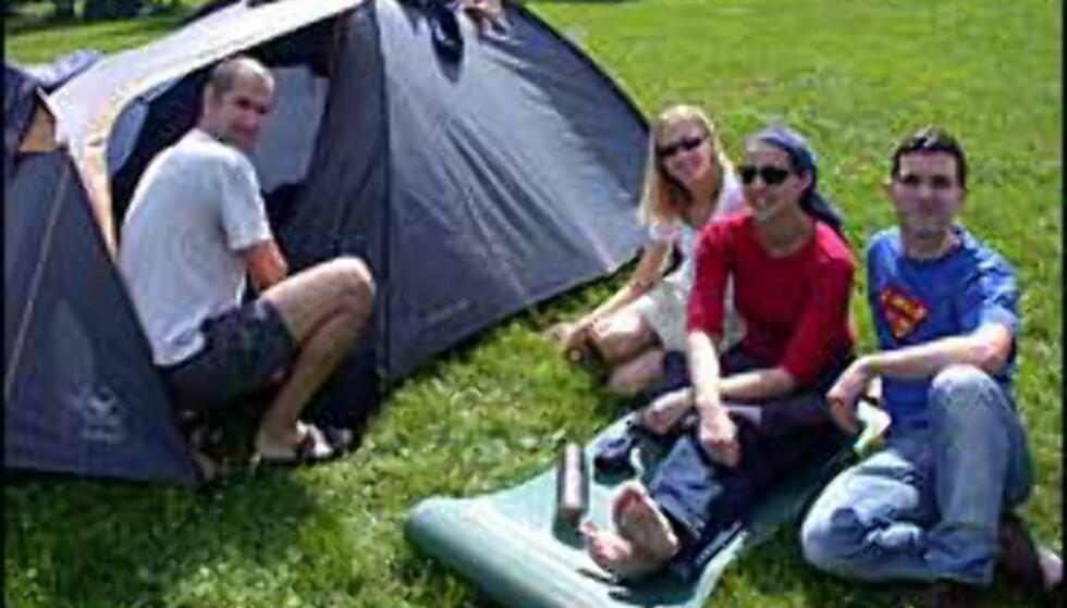 Fri telting blir endelig mulig i Danmark. Illustrasjonsbilde