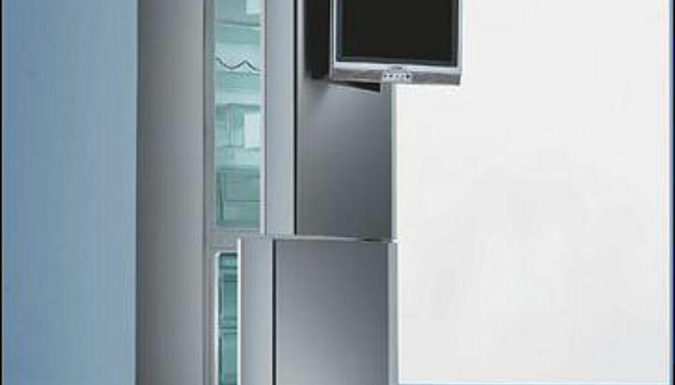 Bilder av kombiskapet med LCD-TV