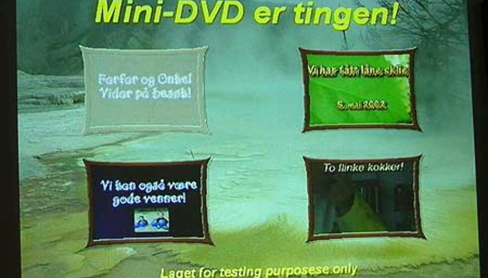 Jaggu leste den vår mini-DVD, som første spiller vi har testet.