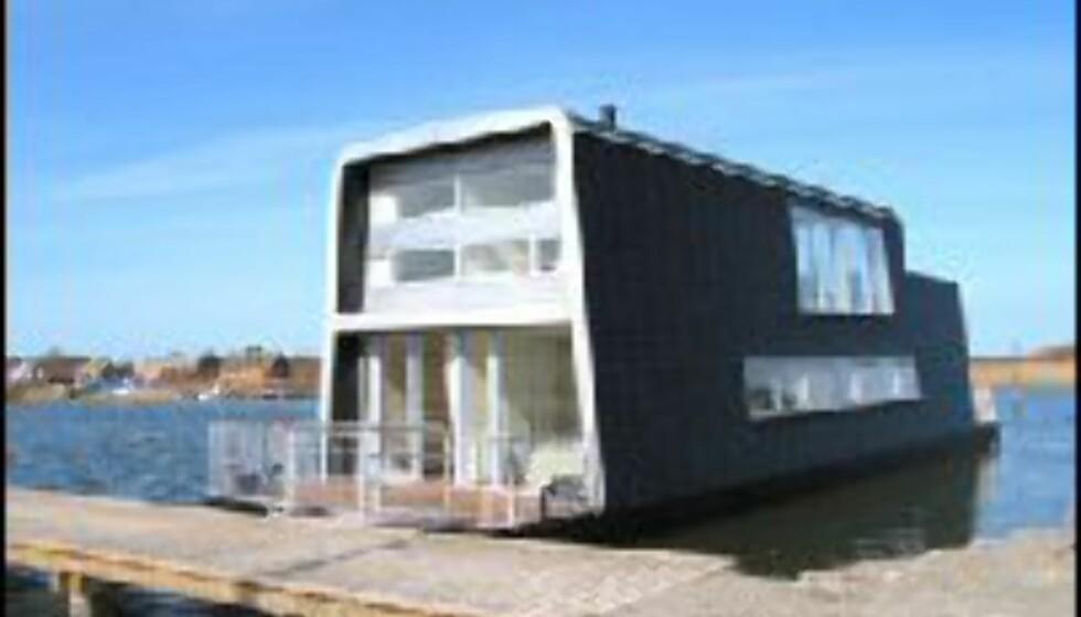 Cubo Arkitekter har designet husbåtene i Hvide Sande.