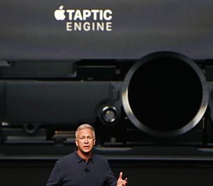 TRYKKSENSITIV: Hjemknappen på iPhone 7 skal ikke brukes på samme måte som på tidligere iPhone-modeller. Foto: REUTERS/Beck Diefenbach