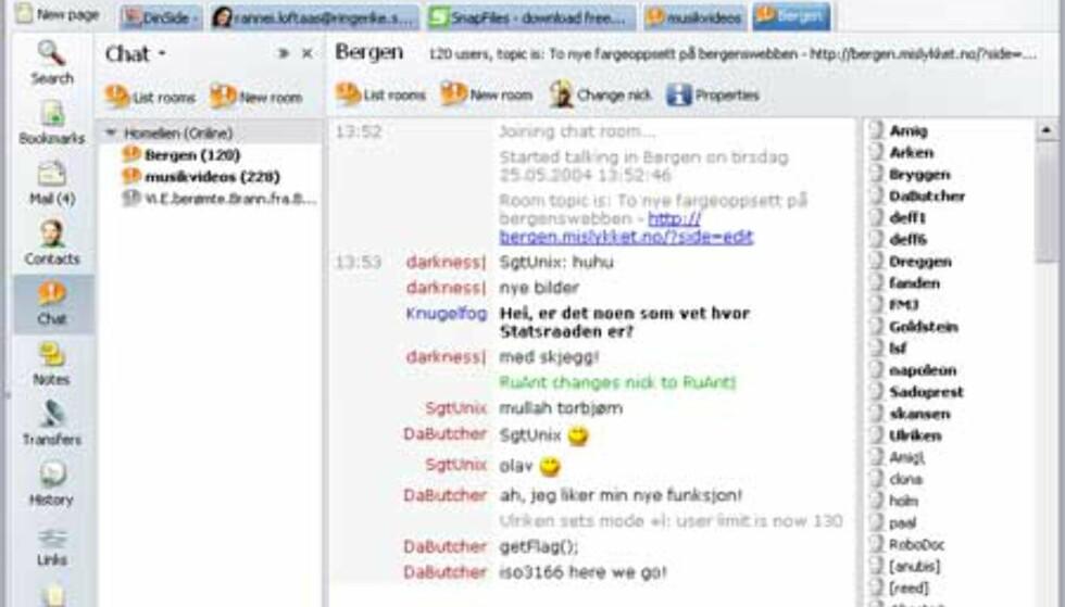 Chat via irc har aldri vært enklere.