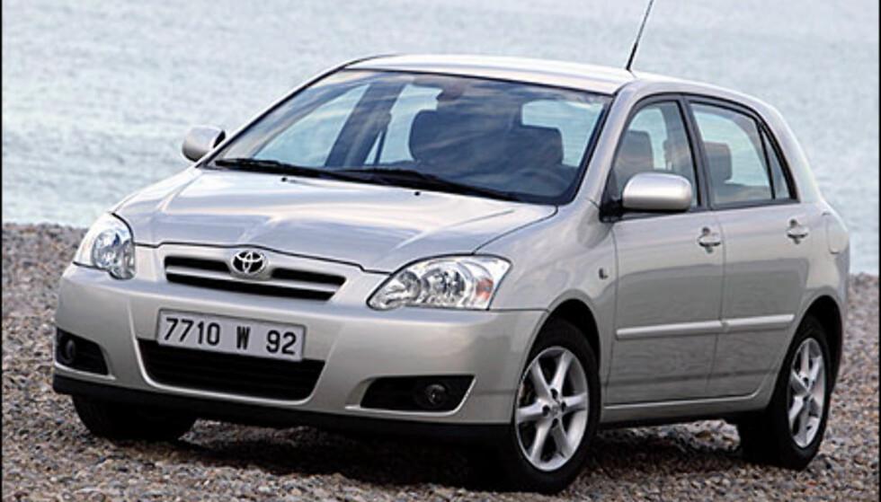 Bildet viser en Corolla Sport