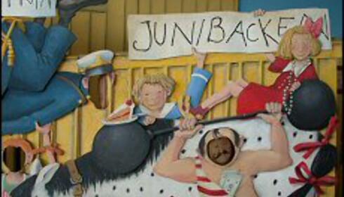 Barna storkoser seg i Junibacken Foto: Cecilie Leganger
