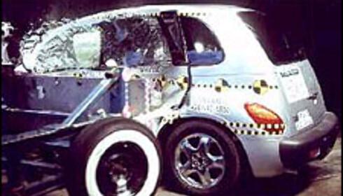Chrysler PT Cruiser, som av amerikanerne regnes som flerbruksbil (van): 17 av 20 poeng