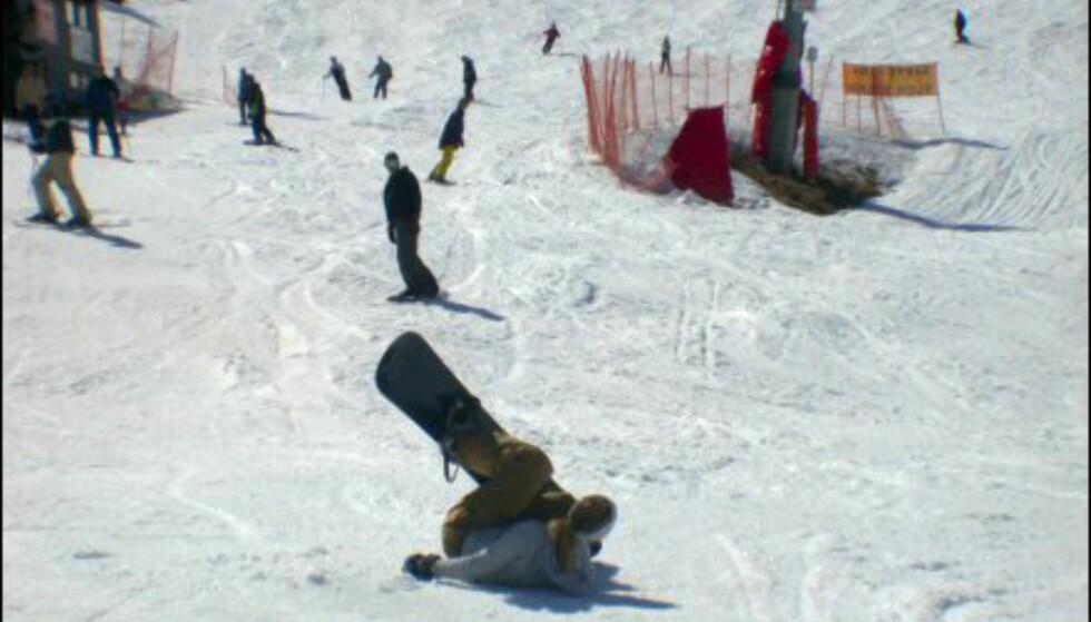 Snøen i Hemsedal sang nok på siste verset, og det var endel som hadde problemer med å holde seg på beina.