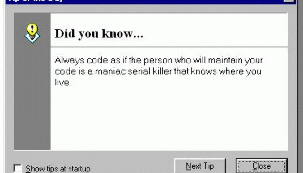 Nyttig programmerings-tips!
