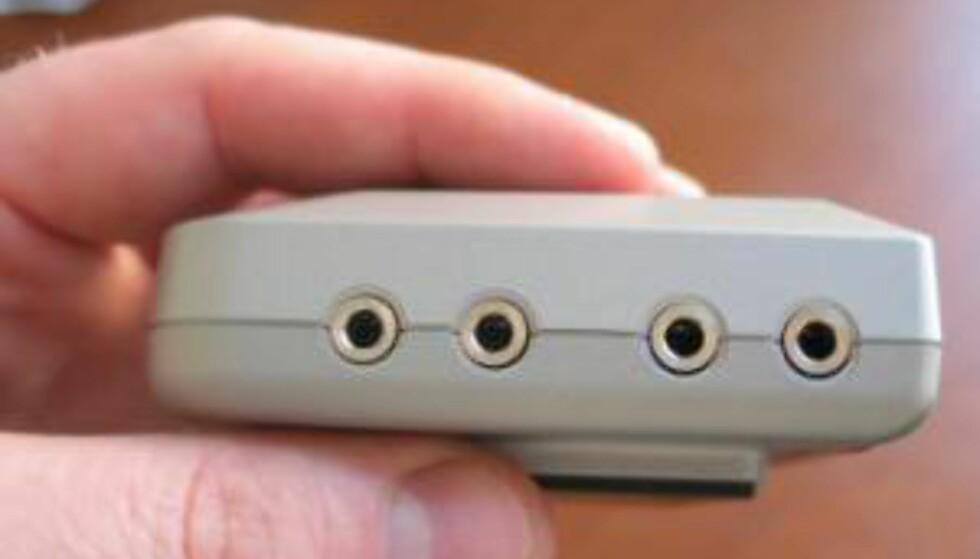 Bilde av RF-enheten som du eventuelt må kjøpe i tillegg.