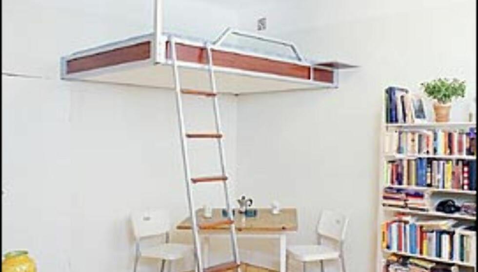 Luftig loftseng. Pris: 19.595 svenske kroner. Bilder gjengitt med tillatelse fra Compact Living.